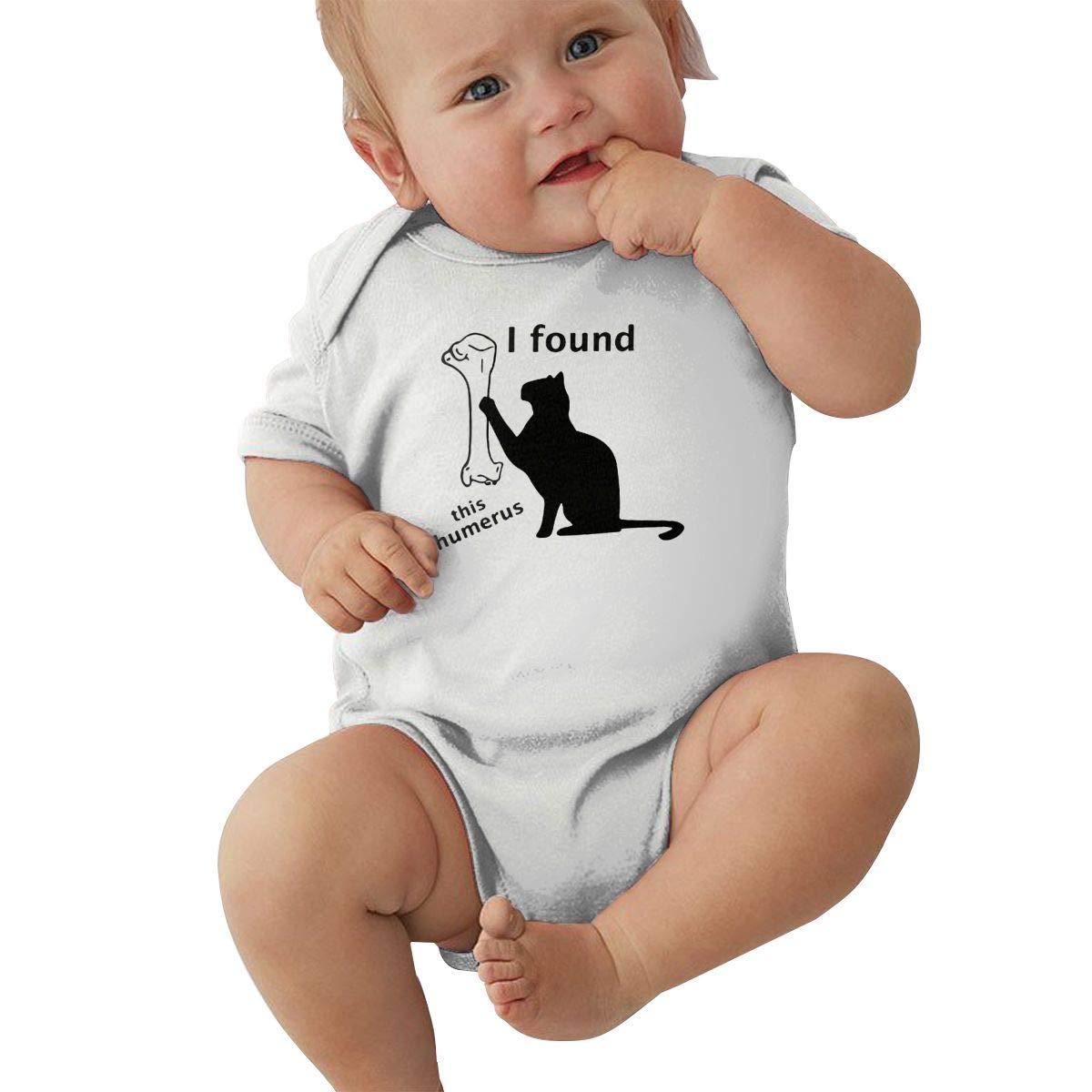 Mri-le2 Newborn Baby Short Sleeve Organic Bodysuit I Found This Humerus Infant Romper Jumpsuit