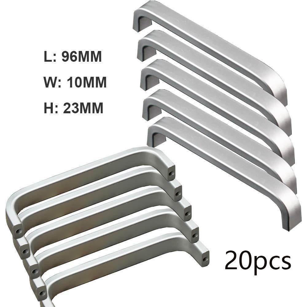 Qrity 20 Stücke Aluminiumlegierung Knöpfe Küche Schrank Schrank ...