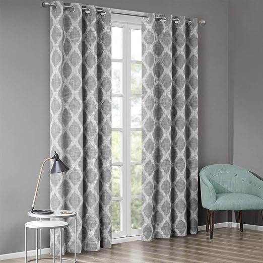 Contemporary Form Curtains 2 Panel Set Decoration 5 Sizes Window Drapes
