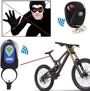 Summer-Spider - Alarma antirrobo para bicicleta con mando a ...