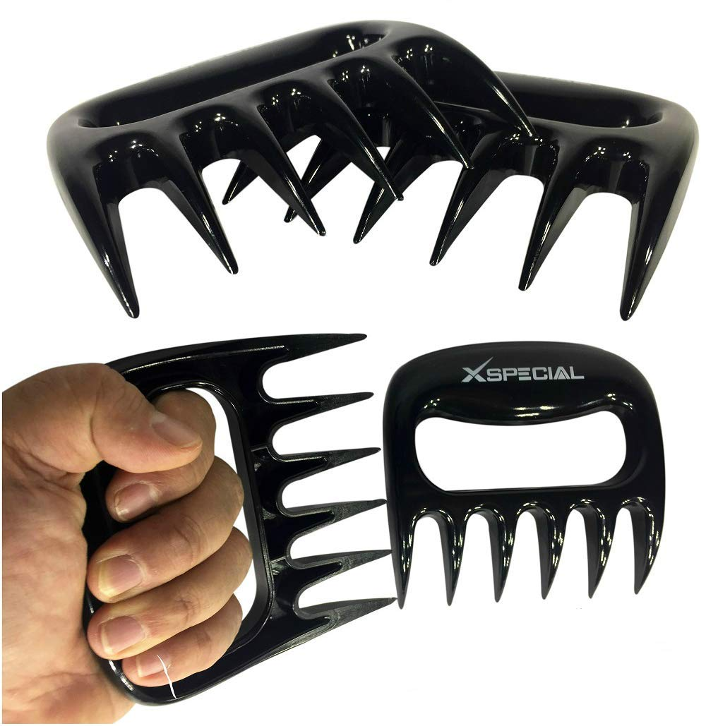 XSpecial Pork Shredder Meat Claws - Used for Pulled Pork, Carve, Serve, Handle & Lift > Brisket Chicken Turkey From Grill, Oven, BBQ (Black) X-Special Products BC01