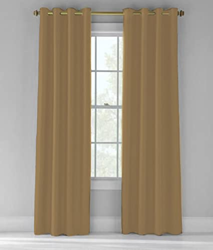 Bed Bath Outlet Room Darkening Thermal Insulating Blackout Curtain 52u0026quot;  X 84u0026quot; ...