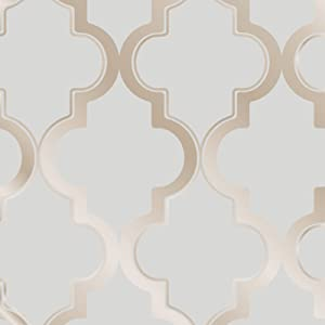 Tempaper Bronze Gray Marrakesh | Designer Removable Peel and Stick Wallpaper