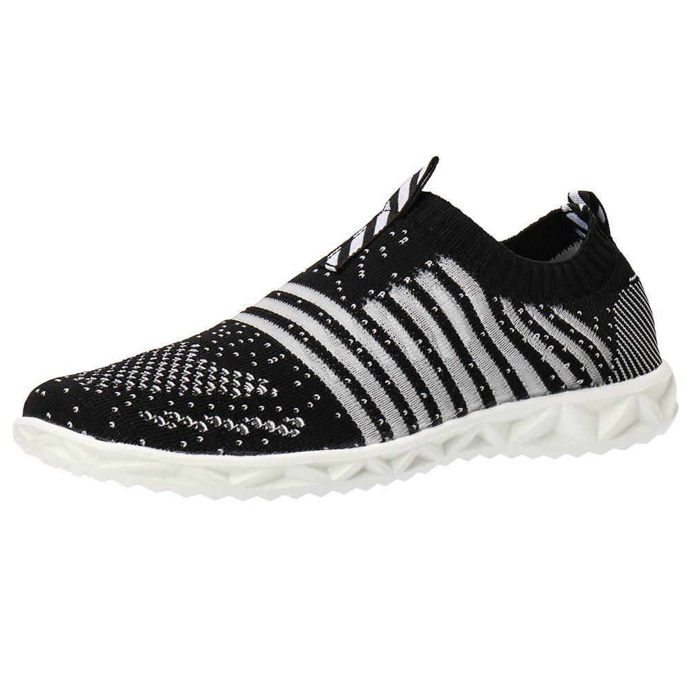 ALEADER Women's Hydro Lite-Knit Slip-On Water Shoes Black 7 D(M) US