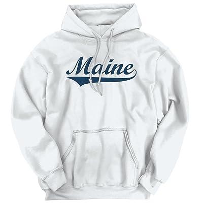 Brisco Brands Maine State Pride College University Hometown Apparel Hoodie