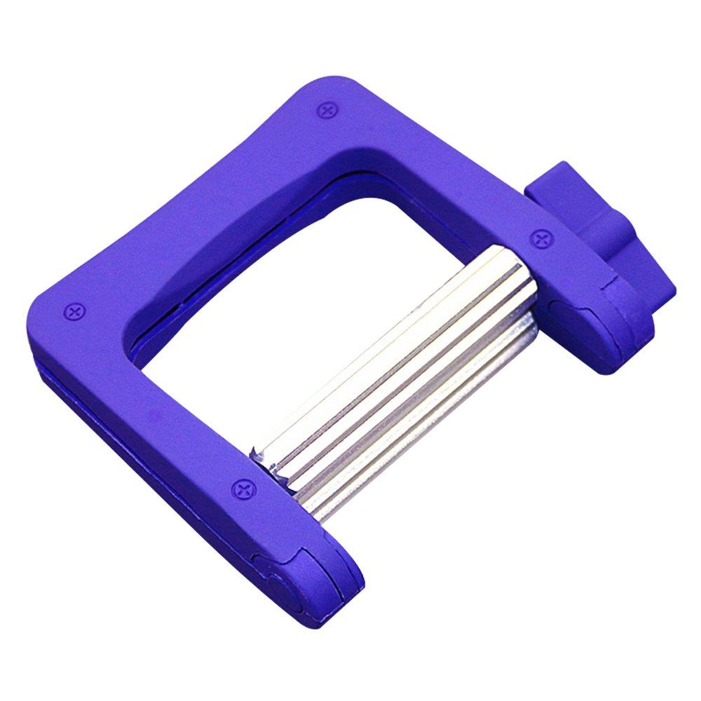semplice design per la casa e l'uso barbiere blu pratico dentifricio spremiagrumi di plastica e tubo di metallo spremi Daptsy