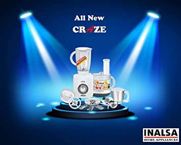 Inalsa Craze Food Processor With Mixer Grinder and Chutney Jar Version 2017 Food Processors at amazon