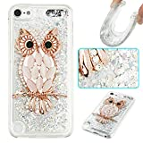 iPod Touch 5 Case,Touch 6 Case,Gift_Source Luxury Bling Glitter Sparkle Flowing Liquid Quicksand Design Soft Rubber Gel Cover TPU Bumper Case For iPod touch 5/Touch 6 [Diamond Owl]