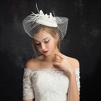 Ran Frauen Hut Braut Hochzeit Kleid Kopfschmuck Adult Hat Britischen