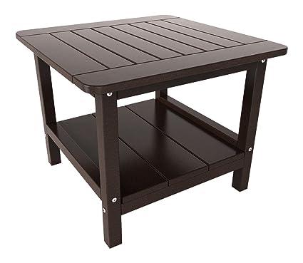 Malibu Outdoor Living Table, Medium, Dark Brown - Amazon.com : Malibu Outdoor Living Table, Medium, Dark Brown : Patio