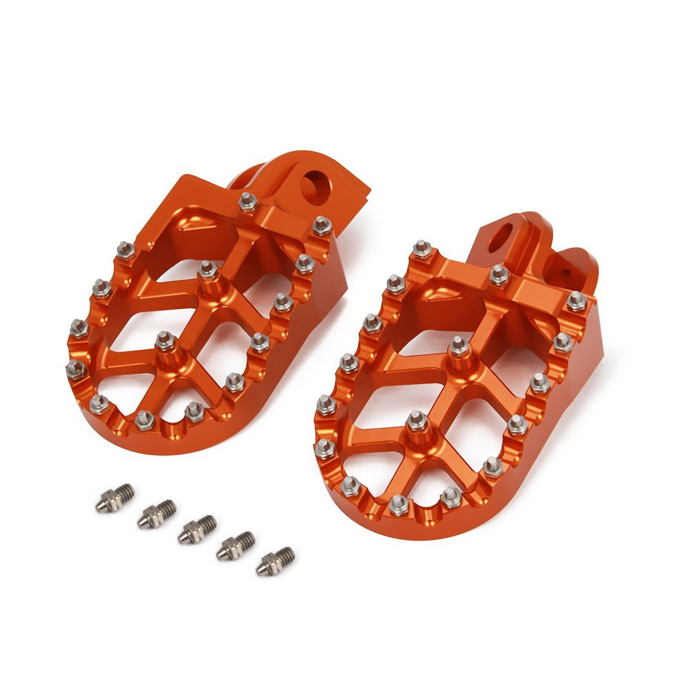 JFGRACING Motorbike Offroad CNC Foot Pegs pedals Foot rests For KTM 65-1290 SX SXF EXC EXCF XC XCF XCW SMC SUPER MOTO ENDURO ADVENTURE FREERIDE 98-18