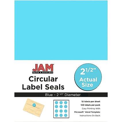 amazon com jam paper round circle labels sticker seals 2 1 2