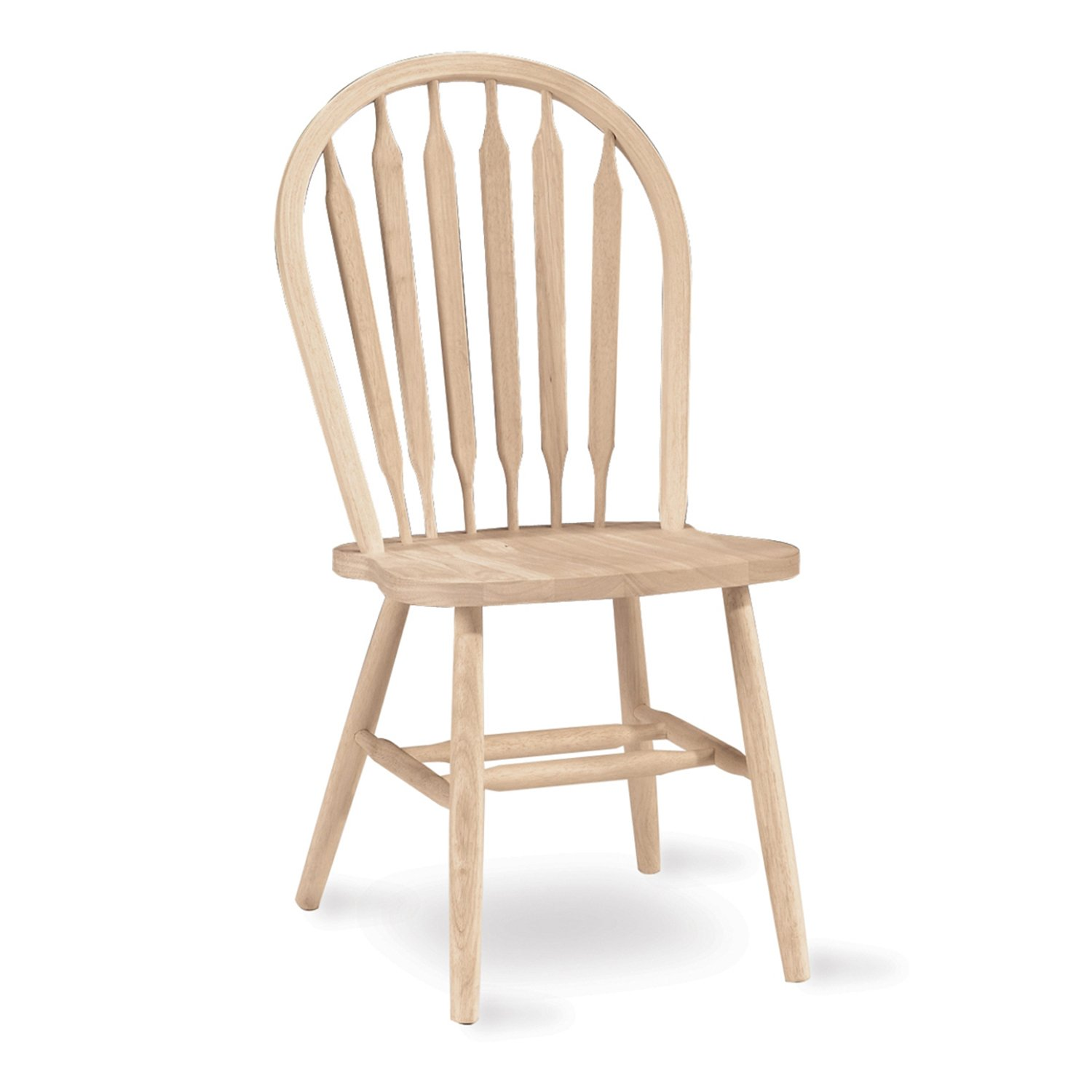 International Concepts 1C-113 37-Inch Arrow Back Chair, Unfinished