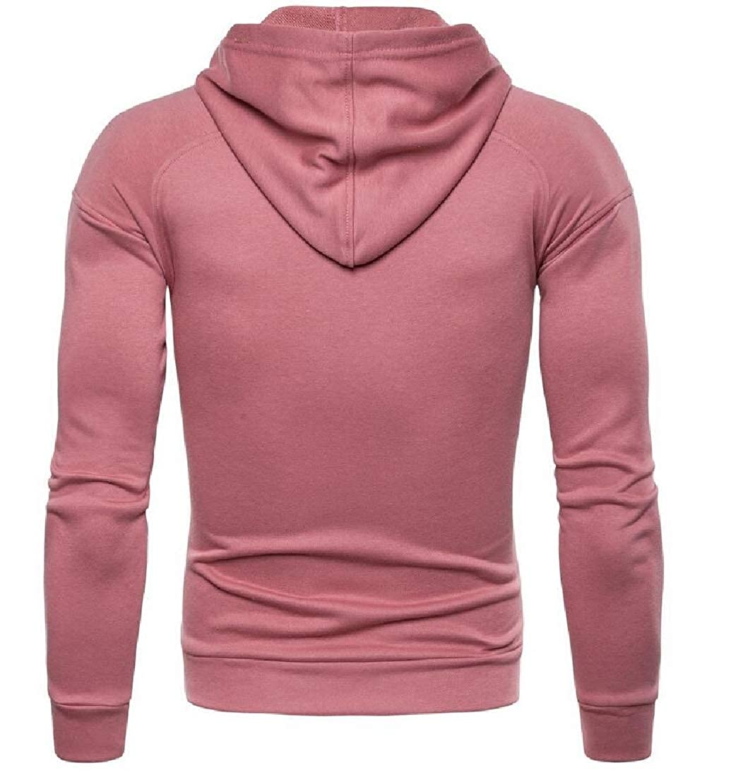 mydeshop Mens Hood Long Sleeve 1//4 Zip Sweatshirt Lightweight Pullover Shirts Tops