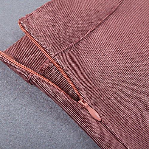 HLBandage Strapless 2 Piece Sets Rayon Bandage Jumpsuits Rosa Oscuro
