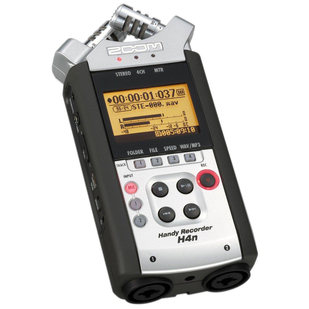 Bundle mit 16 GB Class 10 SDHC-Karte 3,5 mm auf 3,5 mm Stereo-Ausgangskabel Stereo 3,5 mm Mini Phono Stecker auf 2 Cinch-Stecker Y-Kabel Zoom H4n Handy 4-Track Recorder Zoom RC-4 Fernbedienung