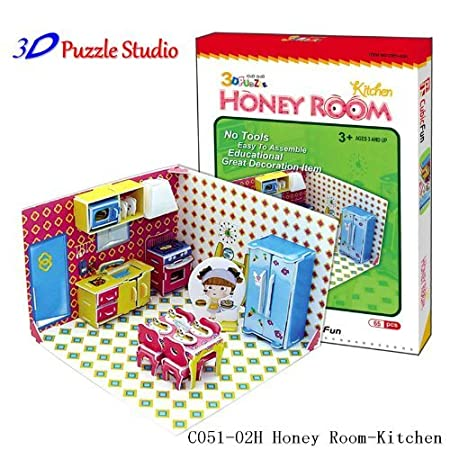 amazon com 3d puzzle honey room kitchen cute for kids fun