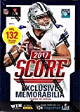 2017 Score NFL Football Unopened Blaster Box of Packs with EXCLUSIVE Memorabilia Card in EACH Box