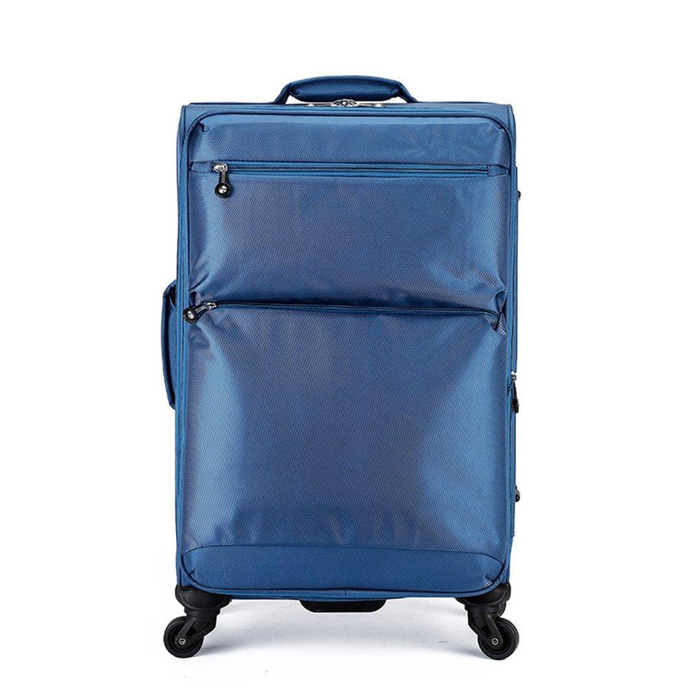 スーツケース ユニバーサルホイールトロリー16インチ24インチオックスフォード布ボックスパスワードチェックボックスの大容量旅行ギア B07V5XLFRP