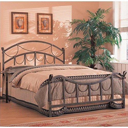 Coaster Iron Bed, Queen-Brass