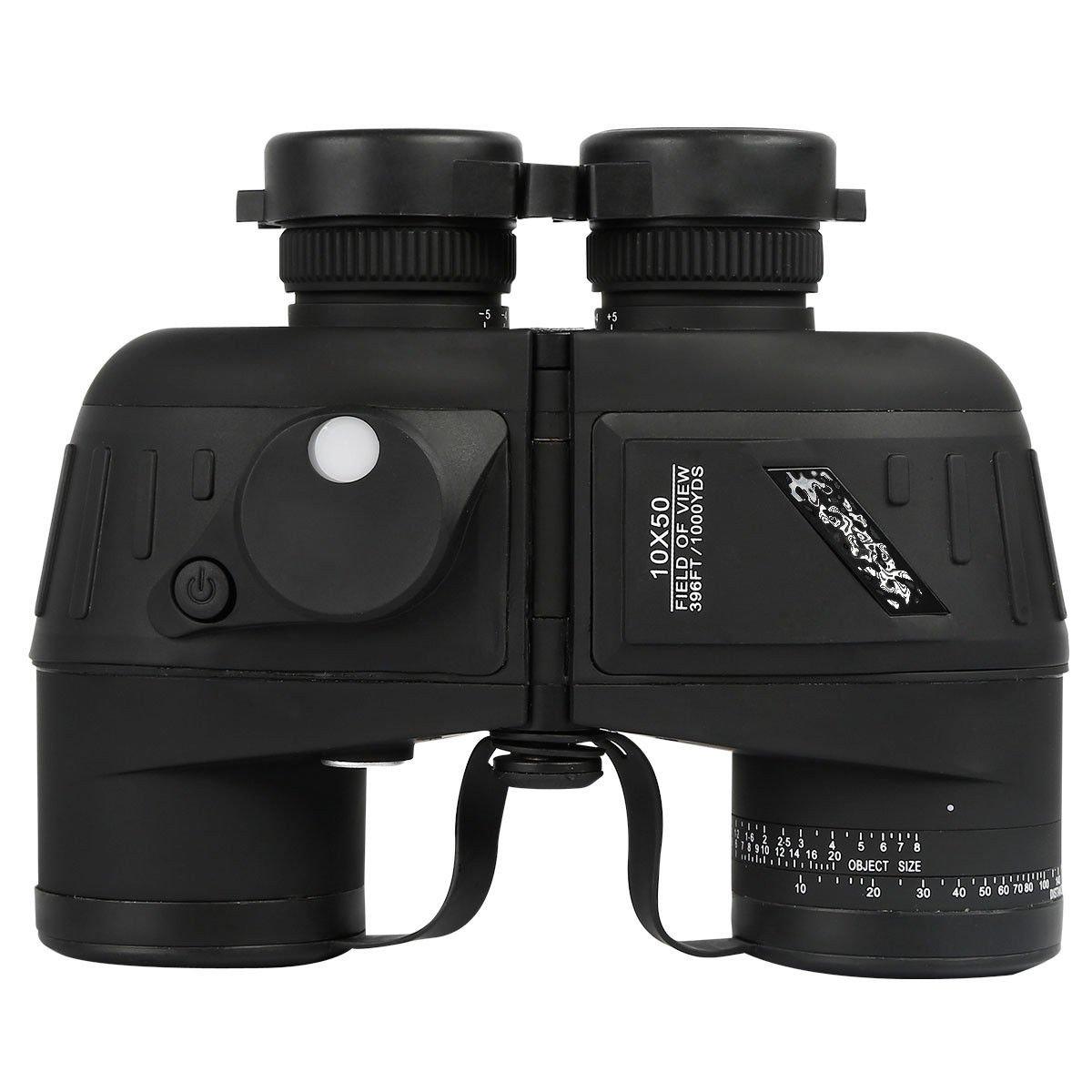 Tengchang 10X50 Military Marine Night Vision Binoculars with Rangefinder Compass by Tengchang