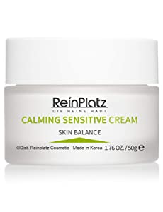 ReinPlatz Centella Calming Sensitive Cream Soothes Redness & Irritation, Fine Lines Natural with Centella Asiatica & Tea Tree, Herbal extracts-Face Moisturizer for Sensitive & Dry skin 1.76 oz