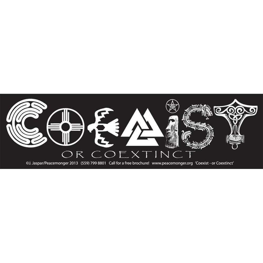 Amazon com coexist or coextinct original peacemonger large bumper sticker automotive