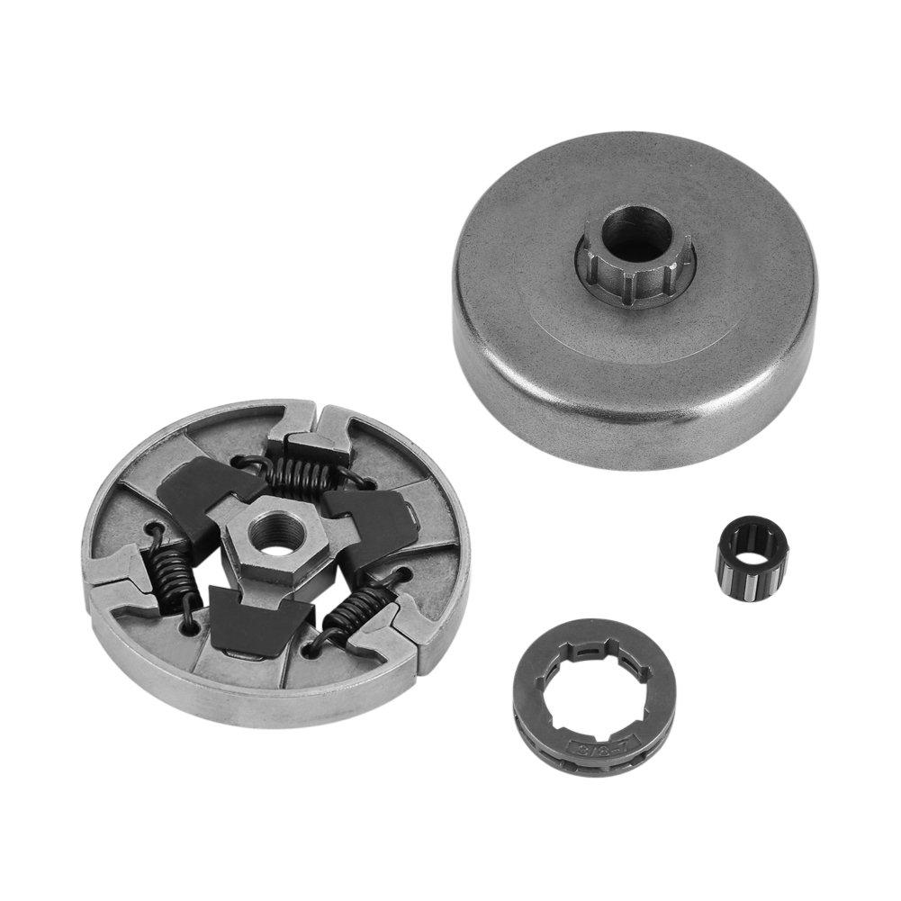 FTVOGUE Embrayage + Tambour + Couronne de pignon 3/8-7 + Roulement pour tronç onneuse STIHL MS066 MS660 MS064