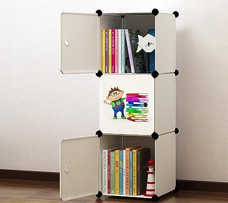 Flashing Lights Simple Bookshelf Wardrobe Child Combination Toy Storage Cabinet PVC Plastic Lockers Shelving
