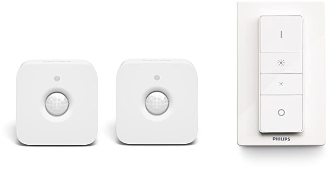 Philips Hue - Sensor de movimiento controlable vía WiFi, compatible con Apple Homekit y Google Home con Duracell Ultra Power - Pack DE 12 Pilas alcalinas ...