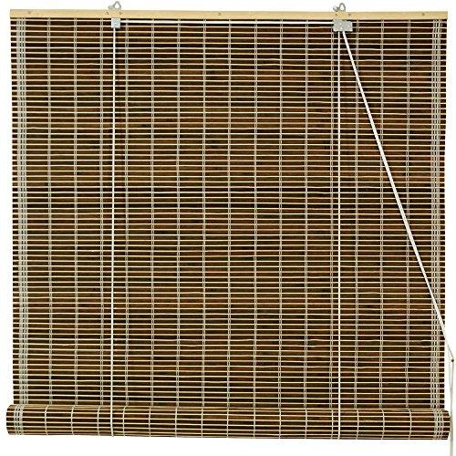 21' Antenna (Natural Elegant Burnt Bamboo Construction Roll Up Blinds, 24
