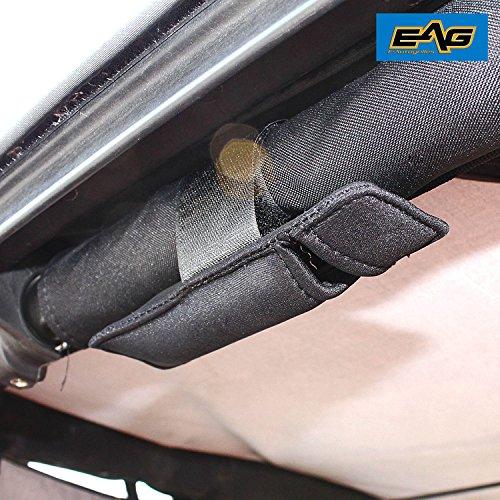 EAG Roll Bar Mini Mag Black Flashlight Holder With Velcro (76-17 Jeep Wrangler YJ/TJ/JK for Roll Bar without Mini Flash Light)
