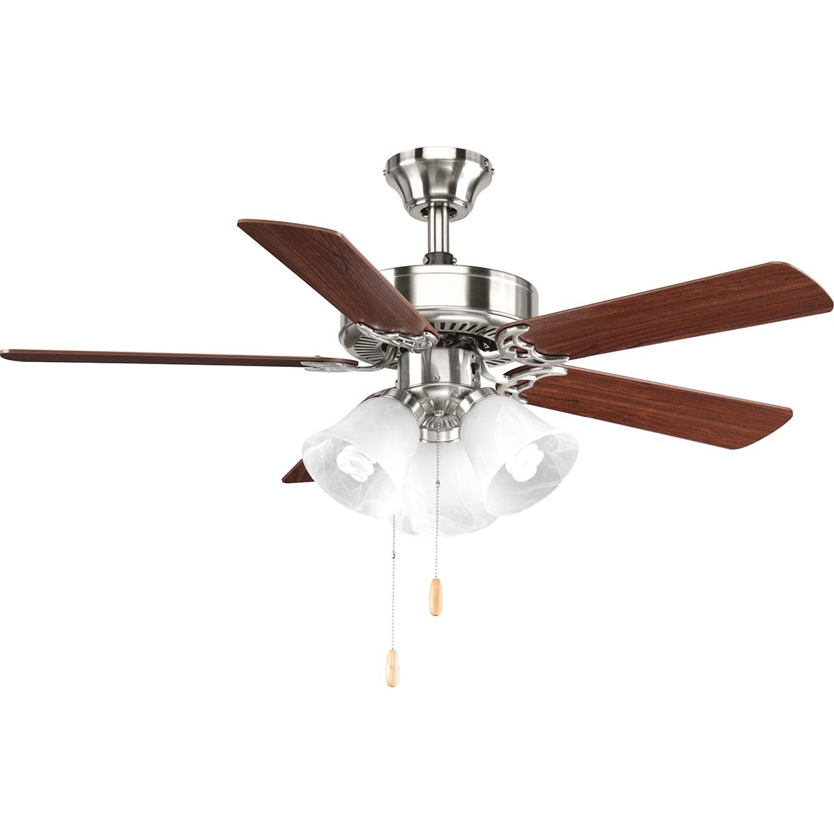 Progress Lighting P2500-09 42-Inch Fan with 5 Blades with Reversible Cherry/Natural Cherry Blades, Brushed Nickel by Progress Lighting (Image #3)