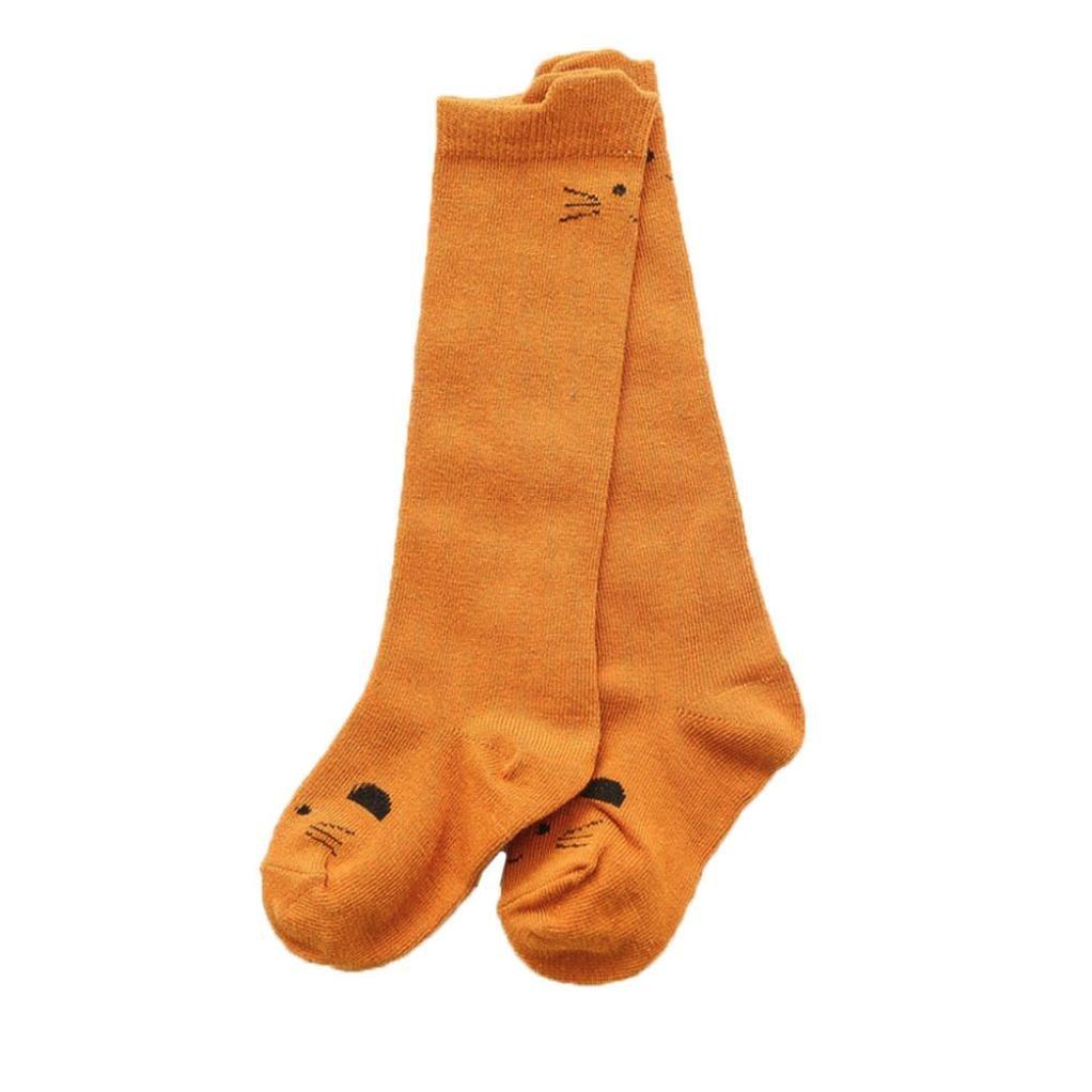 Ouneed/® Chaussettes Hautes Fille Chaussettes Genoux a motif MIgnon Animaux