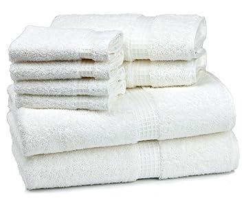 Cambridge Contessa Lot de 8 Serviette de bain, Coton, blanc, 8-Piece ...