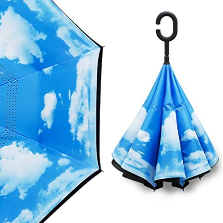 Al revés de tipo paraguas plegable paraguas inversa ...