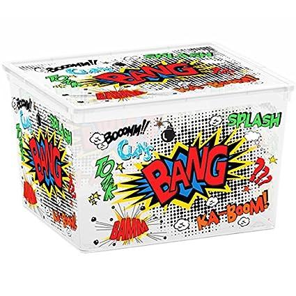 SIK Kis 8419100 2097 01 C Box Estilo Cube Comics – Caja de plástico ...