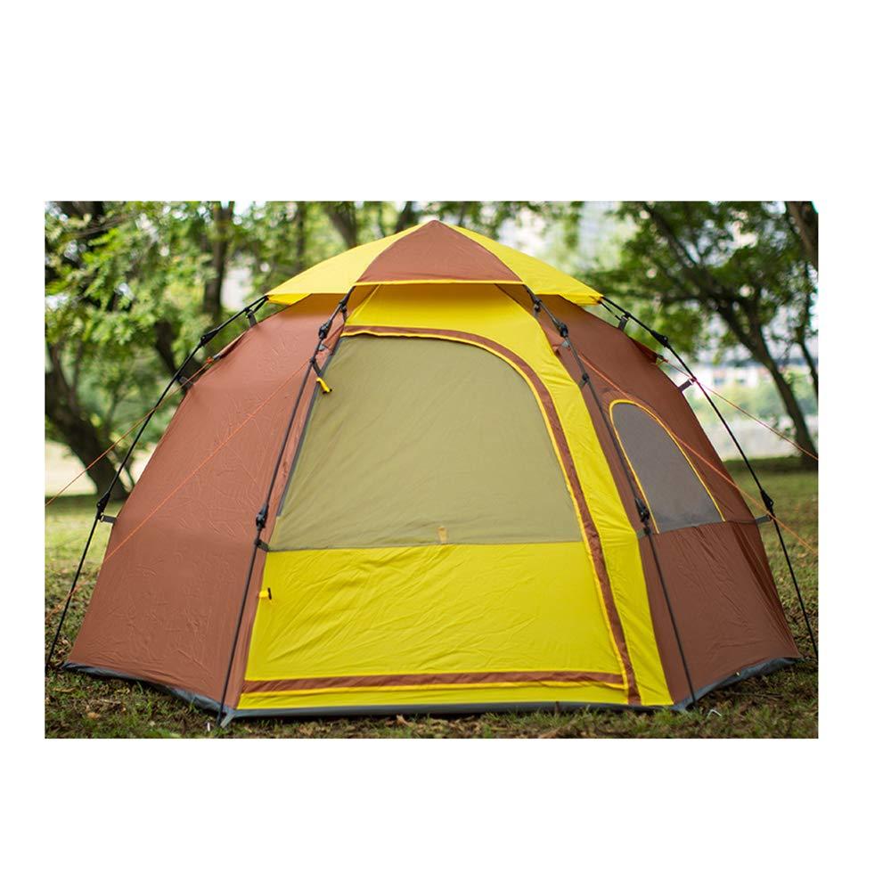 屋外キャンプドームテント、使いやすい34人で暮らせる防水換気,Brown  Brown B07Q27SL48