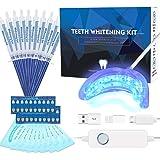 Teeth Whitening Kit Professional, Teeth Whitening Strips, Non-Sensitive Stain Remover for White Teeth, Led Accelerator…