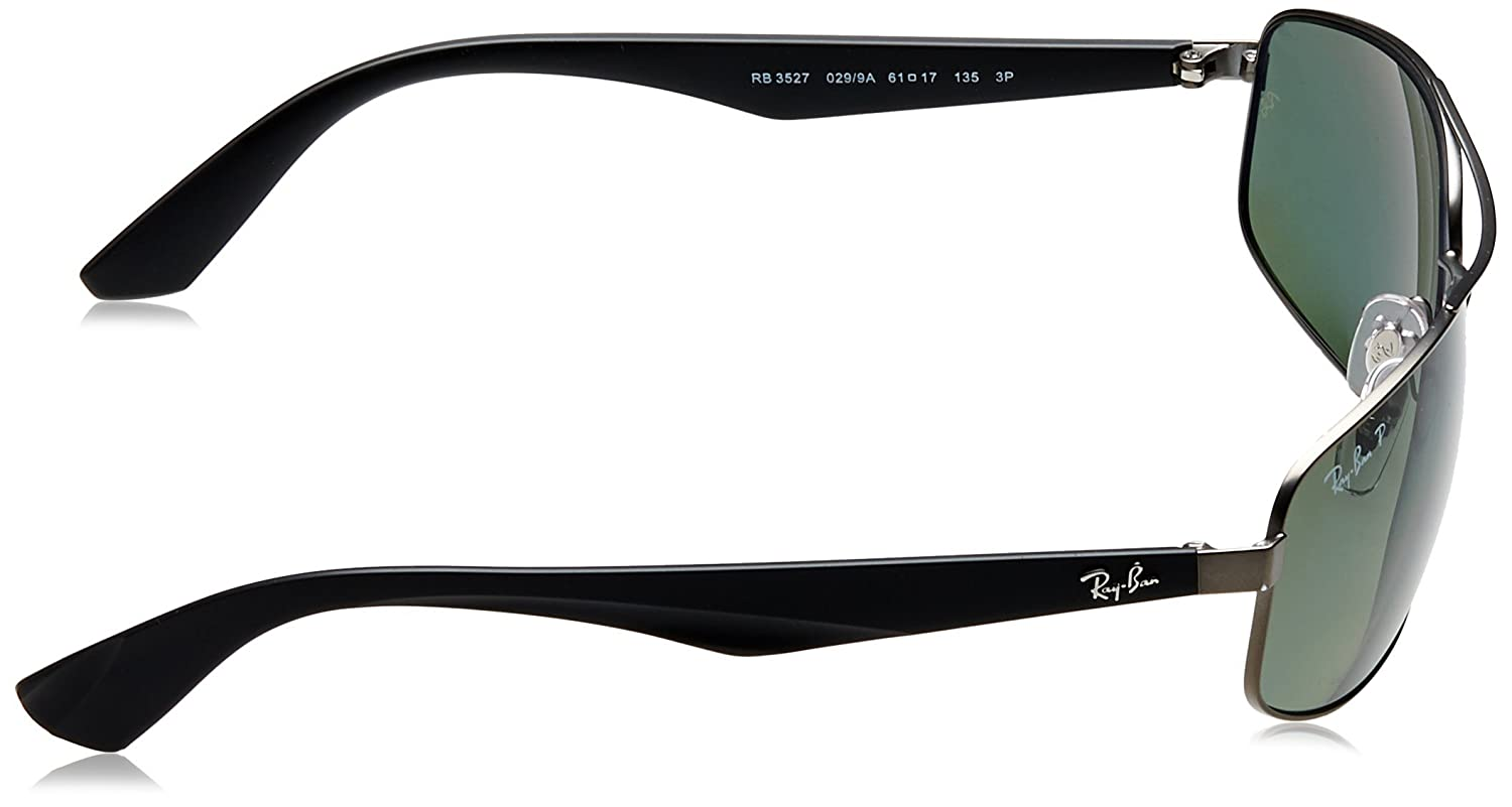 2e88f340c Ray-Ban Men's RB3527 Sunglasses, (Matte Gunmetal)), 61: Amazon.co.uk:  Clothing