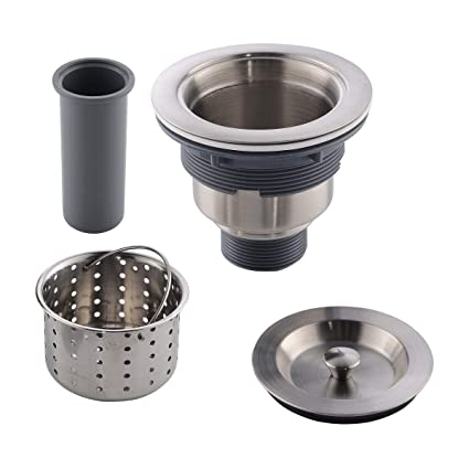 Appaso 3 5 Inches Kitchen Sink Drain Strainer With Removable Deep Basket Cup Sealing Lid Sus 304 Stainless Steel Sink Strainer Assembly Stopper