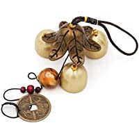 lfhyyazhj Idyllic Copper Alloy Wind Chimes Buddhist Ornaments Creative Home Door Decorations Tourist Attractions Metal…