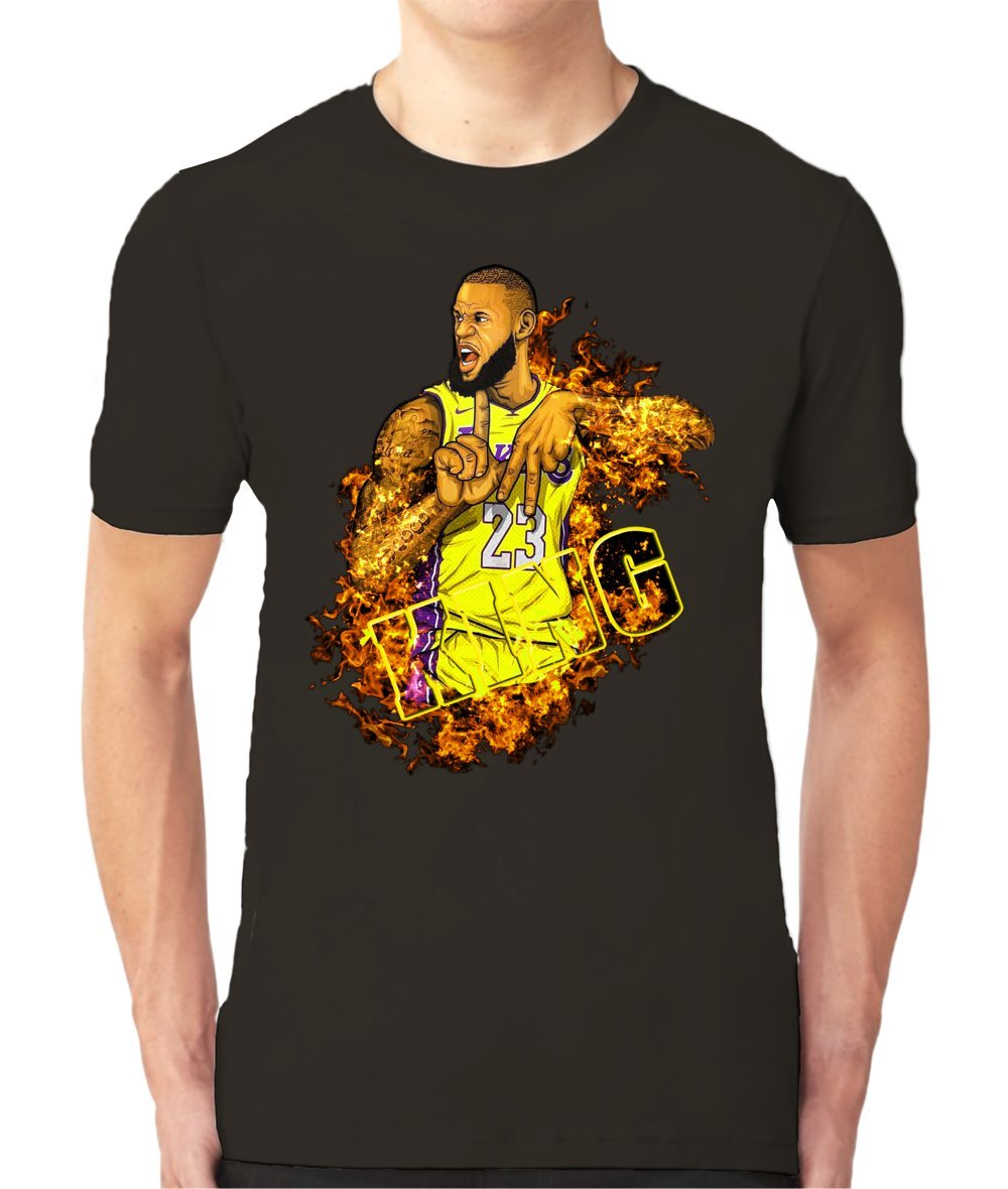 8ca3025f8dcc LABron on Fires Tee with Full Colors DTG Digital Prints. – NBAMeme.com