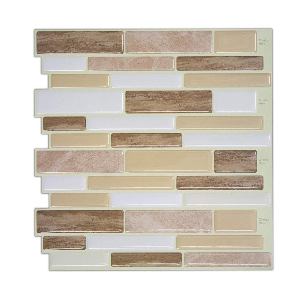 Hue Decoration Peel And Stick Wall Tiles Verona Beige Stone Tile