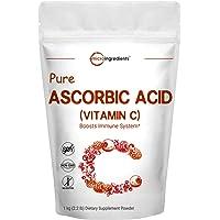 Pure Ascorbic Acid Powder (Water Soluble Vitamin C Powder), 1 KG (2.2 Pounds), Immune Vitamins for Immune System Booster…