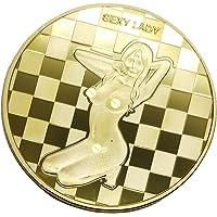 Baoblaze Monnaie Commémorative Sexy Femme Pièce Jeton de Jeu Collection Cadeau Hommes - d
