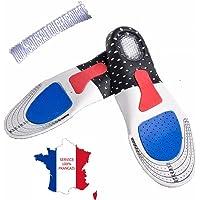 KWIM'S France ❤ SEMELLES ORTHOPÉDIQUE, SEMELLE GEL ACTIV SPORT - SEMELLE CHAUSSURE - Sport Amorti les chocs et soulage les épines calcèennes pour un confort optimal