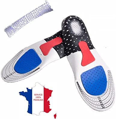KWIMS France® Deportivas hombre plantilla fascitis plantar/plantillas de gel plantilla zapatos hombre/Plantilla running suave de gel: Amazon.es: Zapatos y complementos