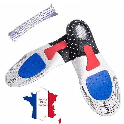 KWIMS France® Suela/Plantillas running suave de gel con cojines integrados para zapatos deportivo - Amortiza los impactos y brinda un confort óptimo ...