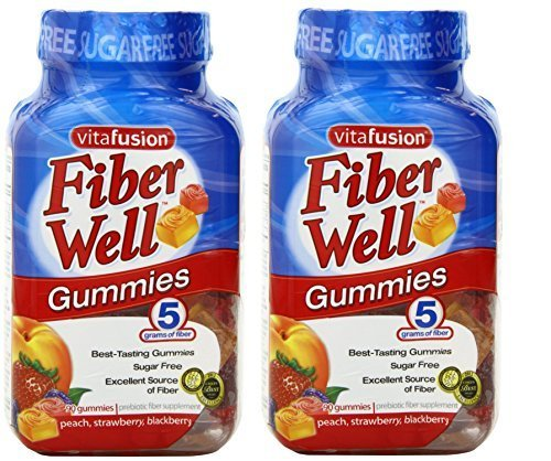 Vitafusion Fiber Gummies, Sugar Free, 90-Count Bottle (Pack of 2)